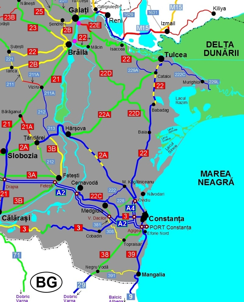 Harta Actualizata Cu Starea Drumurilor Din Romania Iunie 2016