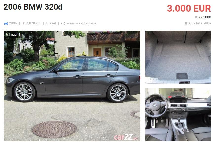 Vrei un BMW Seria 3 din 2006 cu 3000 euro? Atunci sa nu te miri daca iei teapa!