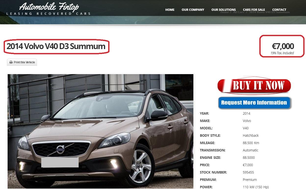 Atentie la masinile ieftine vandute de carsfintop si fintopcars